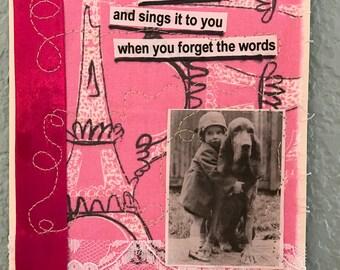 Original Collage Card