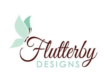 Premade Logo Design - Butterfly Logo, Digital Logo, Nature Logo, Photography Logo