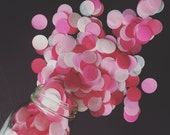 DARLING PINKS / tissue paper confetti / cake table / Valentines Day party / balloon confetti / confetti toss / pink decorations / fuchsia