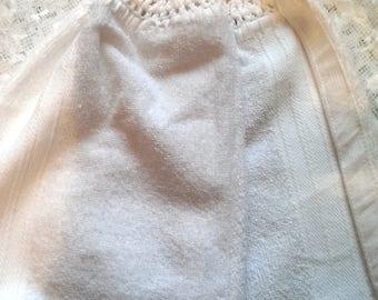 Crochet Top Hanging Kitchen Towel, Hanging Towel, Towel, White
