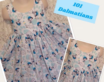 101 Dalmatians Disney * classic jumper style dress CUSTOM SIZES child 2 3 4 5 6 7 8 10 12 14 - your choice sewnbyrachel