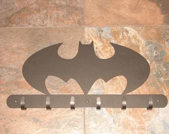 Batman COAT RACK Robe Hook Metal Cabin Shop Garage Kids Room