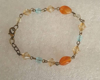 Santa fe inspired glass bead bracelet
