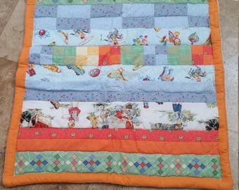 Row by row baby quilt