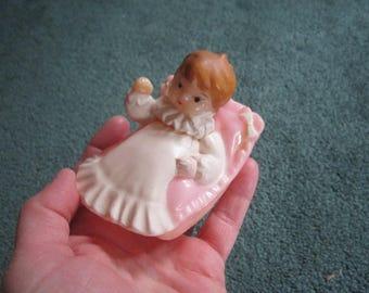 Vintage Cute Pink Hard Plastic Baby Floating Bath Toy