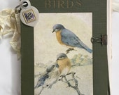 Vintage Book Cover Journal - Art Journal - Scrapbook - Birdwatching Journal - Ephemera - Travel Journal - Salvage Book Cover