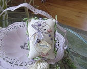 Embroidered Easter Pillow - Mini Easter Pillow - Hanging Easter Ornament