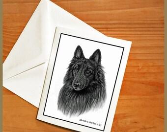 Belgian Tervuren Dog Note Cards