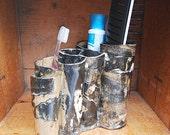 Toothbrush Holder, Makeup Brush Holder, Kitchen Utensil Storage, Art Brush Organizer, Marble Color, Bathroom Decor, Pottery, Handmade