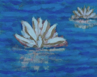 Holdren Art Impressionist Realism Painting Lily Pond Water Studio Sale Free Shipping