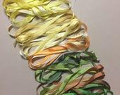 RESERVED for Lani - Lemon mix - 10 metres of 7mm silk ribbon