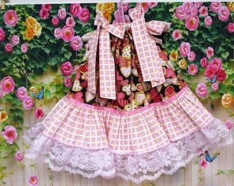 SALE SALE - Baby Girl Dress 12M/18M Valentine Hearts Pink Red Hearts, Pillowcase Dress, Pillow Case Dress, Boutique Dress, Sundress
