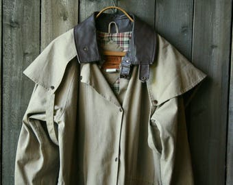 Mens Outback Rugged Trench Coat/ Ranch Style / Australian Fashion/ Cotton and Leather Vintage From Nowvintage on Etsy