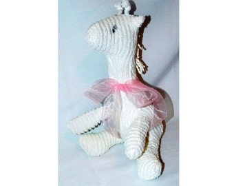 White Chenille Giraffe - Baby's First Stuffed Animal