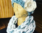 Custom hat and scarf- reserved listing