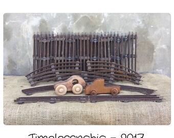 Vintage Train Tracks - Train Tracks - Metal Train Tracks - Railroad Tracks - Toy Train Tracks - Boys Room Decor - Nursery Decor - Tracks