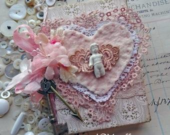 Valentine ornament - altered book decoration - NO022