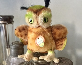 Steiff Owl Wittie with original tag