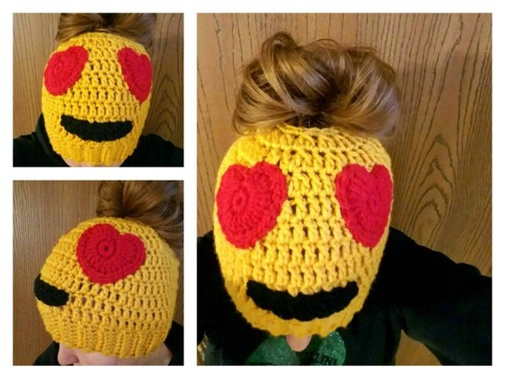 Emoji Hat, Messy Bun Hat Beanie, Mom Bun Monday, World's Okayest Mom, Mom Bun Hat, Christmas Gift For Mom, Mommy and Me Outfits, Mom Life