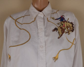 vintage western shirt, all cotton