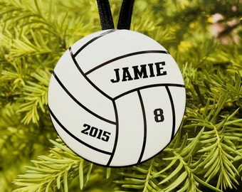 Volleyball Player Christmas Ornament - white - customized - C131