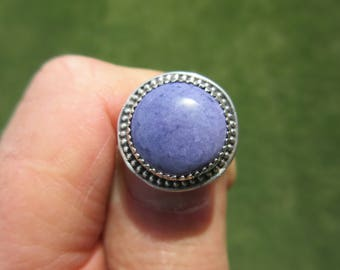 PROUD PIECE to POSSESS - Sterling Silver Tiffany Stone Ring - Size 7 - Free Resizing