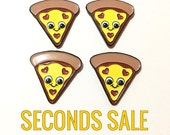 SECONDS SALE  - Pizza Pin - Pizza Enamel Pin - Pizza Lovers Gifts - Pizza Lapel Pin - Cute Pizza Pin - Pizza Gifts - BFF Gifts