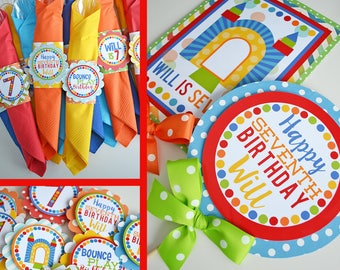 Bounce House Party | Jump Party | Trampoline Party | Bounce Castle Birthday | Boy Bounce Birthday | Bounce House Decorations