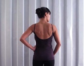 Low back tank - Singlet - Yoga top - yoga clothes - dance wear - athleisure. Burgundy - Black - Dark grey - Dusky rose. Size SM and ML