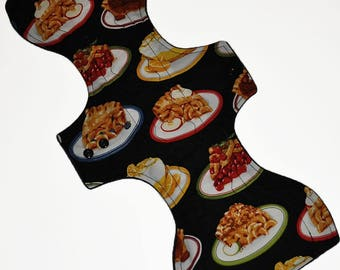 Super Hemp Core- Pies Reusable Cloth Goddess XL/Postpartum Pad- WindPro Fleece- 16.5 Inches