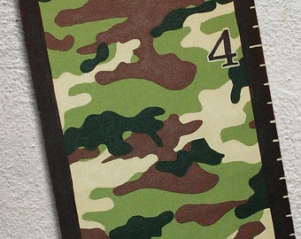 Canvas Growth Chart Custom Camouflage