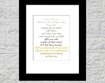 8x10 Print It Came To Me Dog Quote Printable Art, Instant Download, Printable Typography Quote, Art Print, Dog Lover Christmas Gift