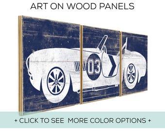 Nursery Decor - Kids Playroom - Car Wall Decor Boy - Car Print - Car Decor - Race Car Sign - Race Car Boys Room - Racing - Old Car