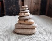 Love heart cairns - eight natural beach hearts from Australia - ooak heart rocks - heart pyramid