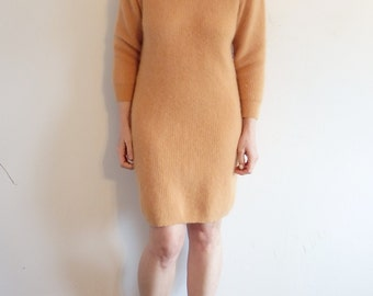 ESPRIT Vintage Dress Womens Angora Camel
