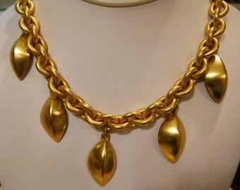 Anne Klein Charm Necklace Matte Gold