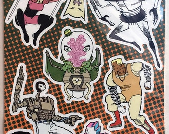 Copra Stickers - SET B - The Villains Sheet