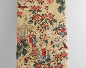 Ironing Board Cover, Vintage Japanese Scenes with Flowers