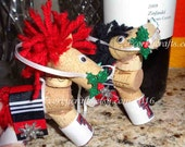 Texas Tech  wine cork horse Christmas ornament/Red Raiders/ Guns up!