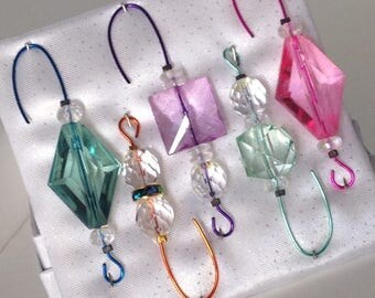 Beaded Ornament Hangers - Colored Assortment  - FREE SHIPPING