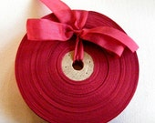 Vintage 1930's-40's French Woven Ribbon -Milliners Stock- 5/8 inch Russian Red