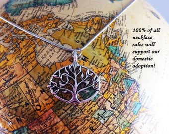 Tree of Life Necklace, Adoption Fundraiser Necklace