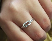 Silver Infinity Knot Ring - Lovers Symbol - Promise of Love - Gift For Her - Silver Jewelry - Dainty Minimalist Accessory