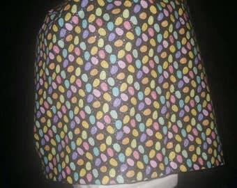 Women's  Glitter Eggs Easter Scrub Hat