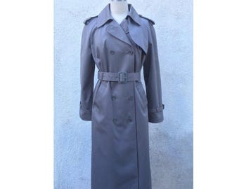 Classic Vintage grey trenchcoat size M women's