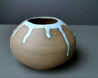Decorative Accent Pot with Artic Blue