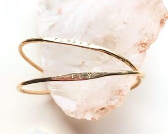 skinny ID cuff bracelet // personalized jewelry   / bangle / ID bracelet / bridesmaids gift / cuff bracelets / minimal jewelry / minimalist