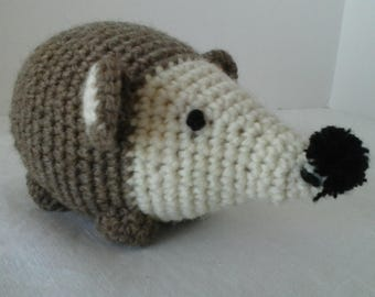 Crocheted hedgehog  Amigurumi baby toy  Crib plushie  Baby softie  Baby shower gift