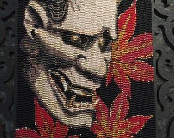 Hannya Noh Oni Demon Mask Tapestry