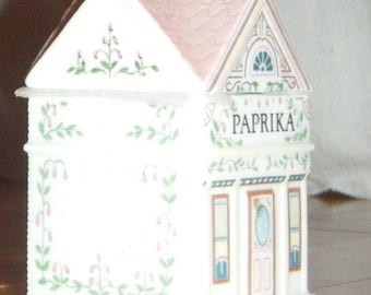 Vintage Lenox Spice Village Homes House China Spice Jar Basil Lenox Collectible China 1980 this jar only replacement piece part Italian